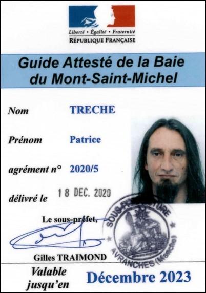 Carte de guide attesté de la baie du Mont Saint-Michel